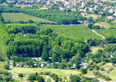 Vue aérienne du camping ©Hortes